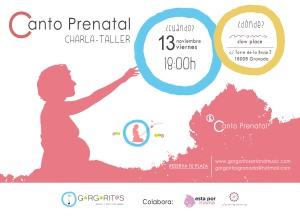 charla taller momo slow place Canto Prenatal Granada gorgoritos