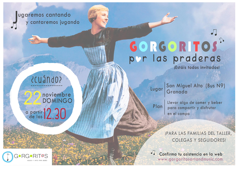 Gorgoritos por las praderas merienda campo noviembre musica para bebes Granada