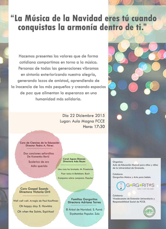 Gorgoritos concierto navidad ugr ciencias de la educación Granada